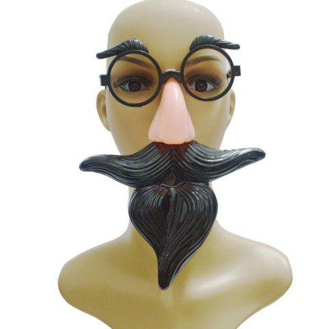 Hot MCYH WL187 Spoof Tricky Toy Glasses - 17*12CM BLACK Mobile