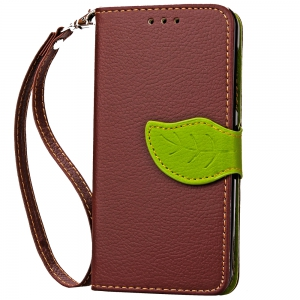 Love Leaf Card Lanyard Pu Leather for Alcatel Pixi3-4.0/Ot4013k -