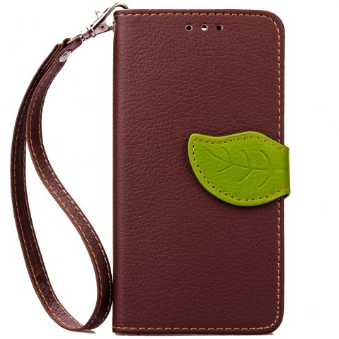 Shop Love Leaf Card Lanyard Pu Leather for Alcatel Pixi3-4.0/Ot4013k