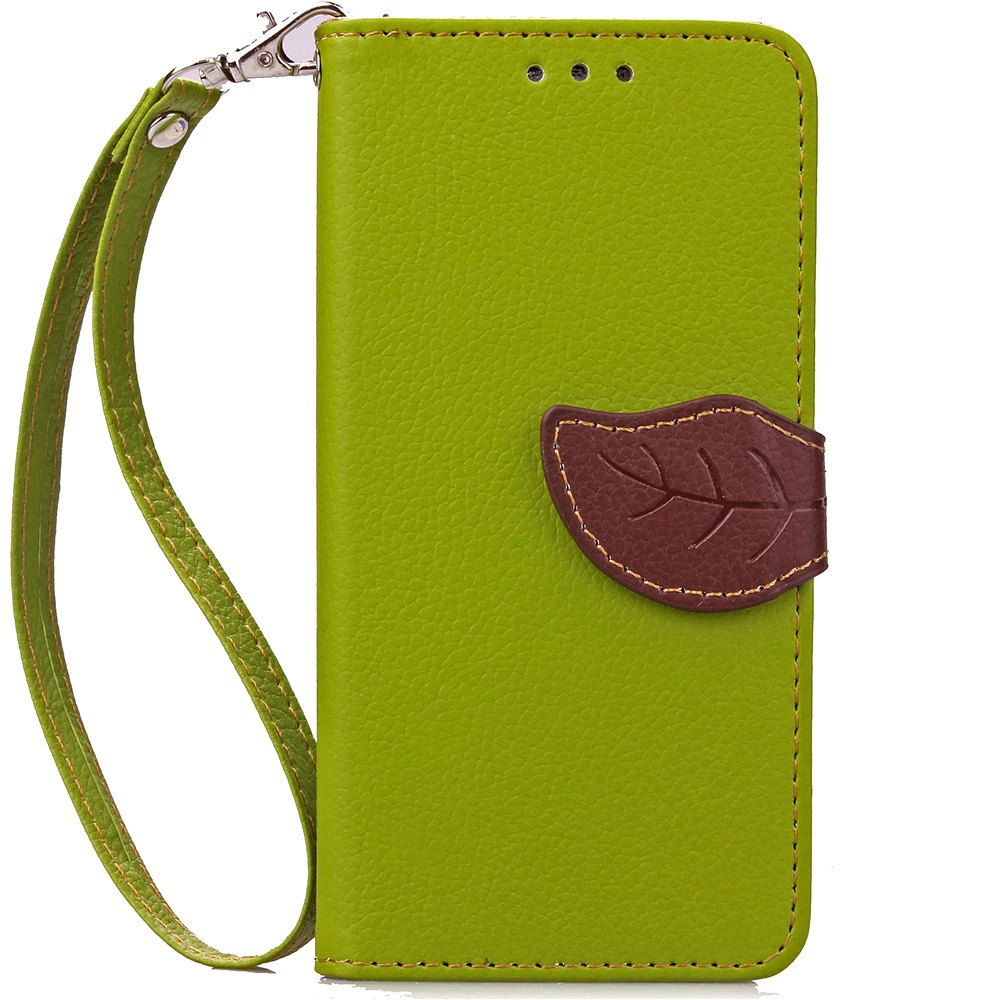 Affordable Love Leaf Card Lanyard Pu Leather for Alcatel Pixi3-4.0/Ot4013k