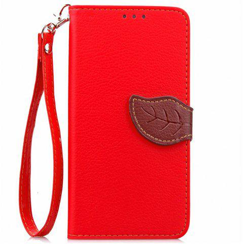 Chic Love Leaf Card Lanyard Pu Leather for Acer Z530