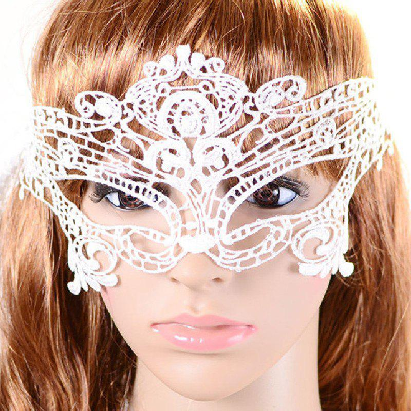 Yeduo Black Sexy Lady Lace Mask for Masquerade Halloween Party Fancy Dress CostumeHOME<br><br>Color: SNOW WHITE; Material: Lace; For: All; Usage: Halloween,Party,Performance,Wedding;