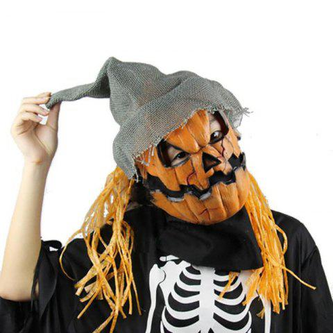 Shops Yeduo Halloween Mask Pumpkin Scarecrow Creepy Latex Realistic Crazy Rubber Super Creepy Party Halloween Costume Mask