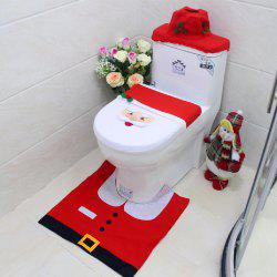 Yeduo New Year Best Gift Happy Christmas Santa Toilet Seat Cover Rug Bathroom Decorations -