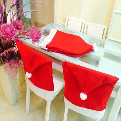 Outfits Yeduo Hort Santa Claus Hat Chair Covers Christmas Dinner Table Party RED