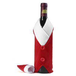 Yeduo Christmas Red Wine Bottle Bag Cover Bags Dinner Table Home Decoration - RED