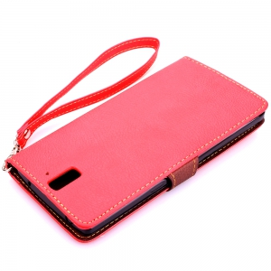 Love Leaf Card Lanyard Pu Leather for Oneplus One -