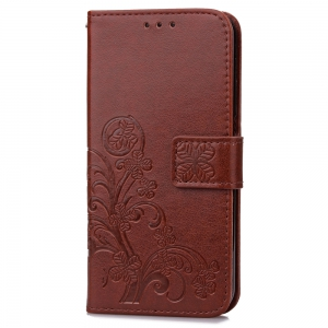 Lucky Clover Holster Leaf Card Lanyard Pu Leather for Huawei Y5 Ii -