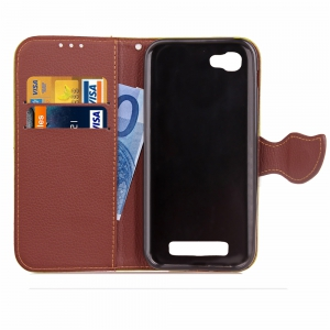 Love Leaf Card Lanyard Pu Leather for Zte A610 -