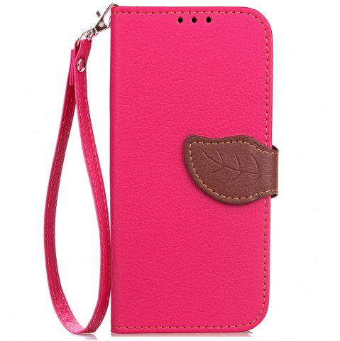 Affordable Love Leaf Card Lanyard Pu Leather for Zte A610 Plus