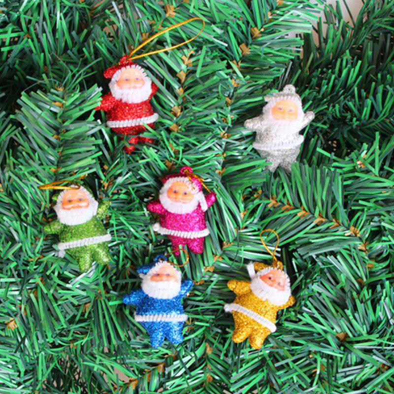 6PCS Christmas Old Man Christmas Trees Accessories - 5CMHOME<br><br>Color: COLORMIX; Material: Plastic; Usage: Christmas;