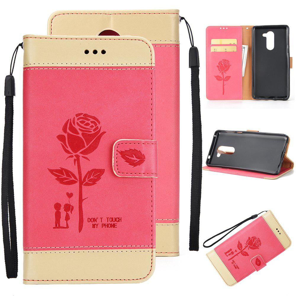 Store Wkae Dual Color Matching Protective PU Leather FliPU Stand Case Cover with Card Cash Slots And Lanyard for Huawei Hornor 8