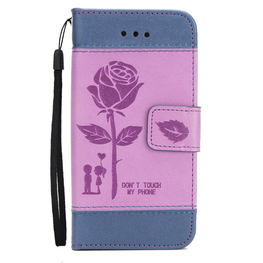 Latest Wkae Mixed Colors Rose Flower Frosted Premium Pu Leather Wallet Stand Case Cover with Card Slots for iPhone 5