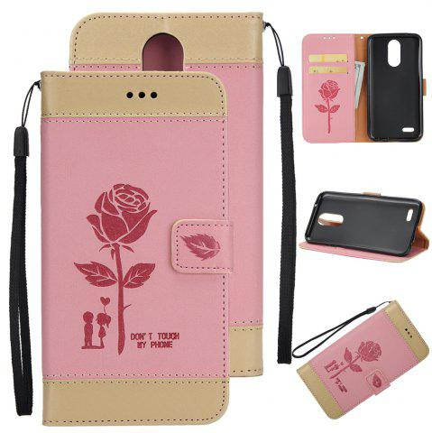 Outfit Wkae Mixed Colors Rose Flower Frosted Premium Pu Leather Wallet Stand Case Cover with Card Slots for Lg K4