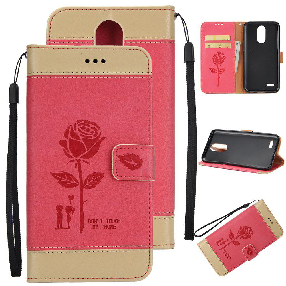 Affordable Wkae Mixed Colors Rose Flower Frosted Premium Pu Leather Wallet Stand Case Cover with Card Slots for Lg K4