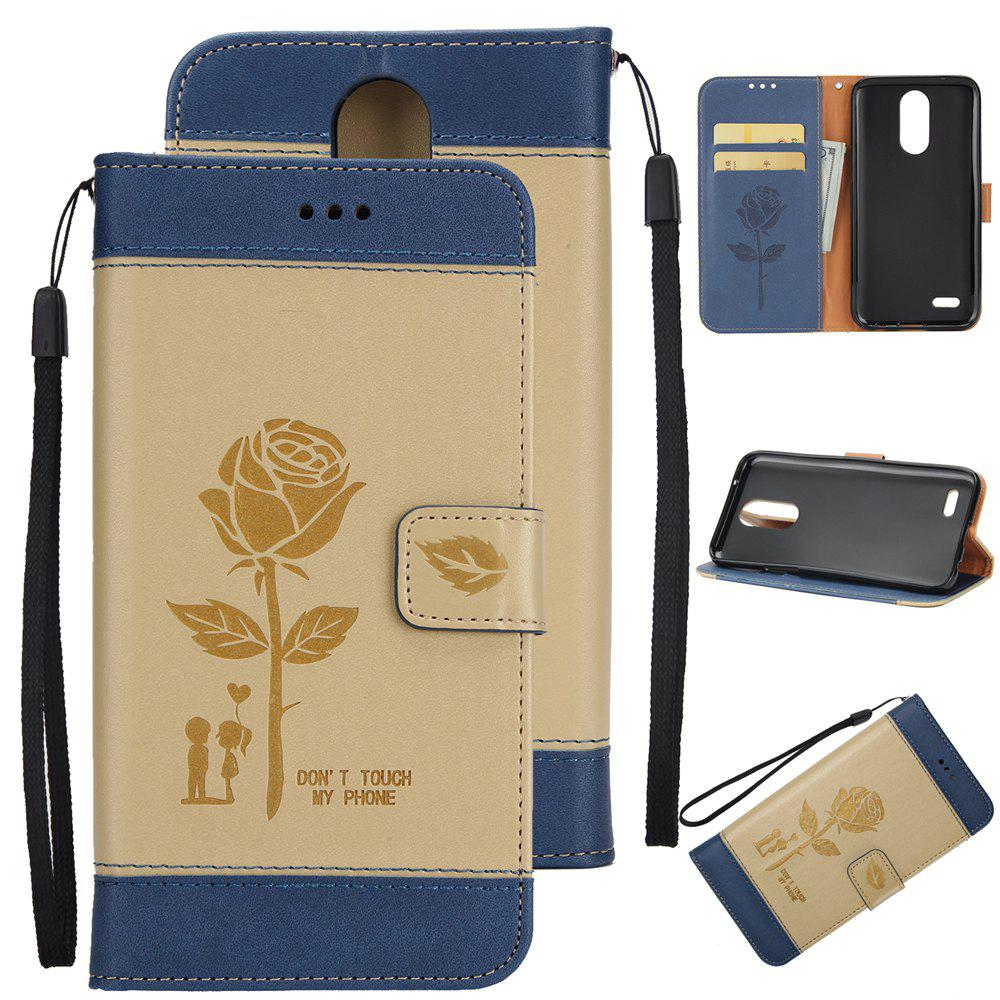 Store Wkae Mixed Colors Rose Flower Frosted Premium Pu Leather Wallet Stand Case Cover with Card Slots for Lg K4