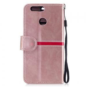 Elegant Style Back Magnetic Buckle Flip PU Leather Wallet Case for Huawei Nova 2 Plus -