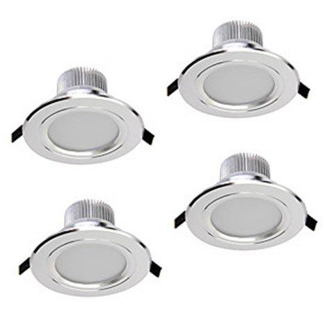 Hot Zdm 4pcs 5W 400-450LM Dimmable Led Downlights Warm White/Cool White/Natural White Ac110v/Ac220v - WARM WHITE LIGHT AC220V Mobile