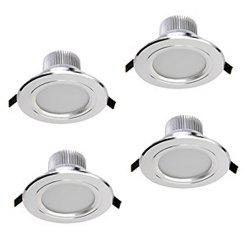 Zdm 4pcs 5W 400-450LM Dimmable Led Downlights Warm White/Cool White/Natural White Ac110v/Ac220v - WARM WHITE LIGHT AC110V