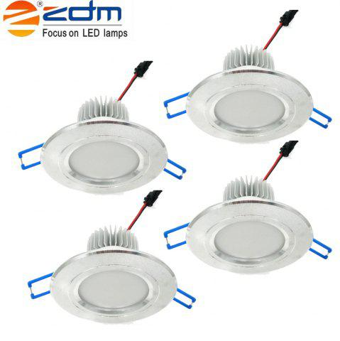 Zdm 4pcs 5W 400-450LM Led Low Voltage Downlights Blanc chaud / Cool Blanc / Blanc Blanc Ac12v / Ac24v