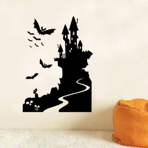 Chic Mcyh Wl93 The Halloween Series Bat Castle Wall BLACK