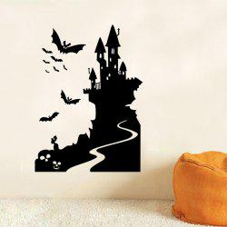 Mcyh Wl93 The Halloween Series Bat Castle Wall - BLACK
