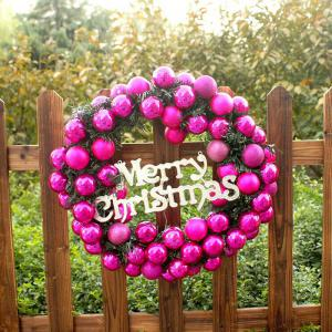 Mcyh Wl143 Garlands Wreaths Christmas Rattan Rings Door Pendants - PAPAYA 30CM