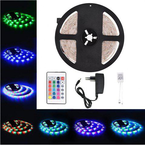 Affordable Supli 5M Waterproof Flexible Strip Smd 3528 Rgb 300LEDS with 44KEY Ir Remote Controller And 12V 3A Power Supply