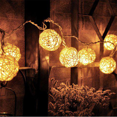 Supli String Light 2M 20 LED Led Garland Rattan Balle Batterie Garland Droppartyparty Patio Christmas Wedding Decoration Fairy