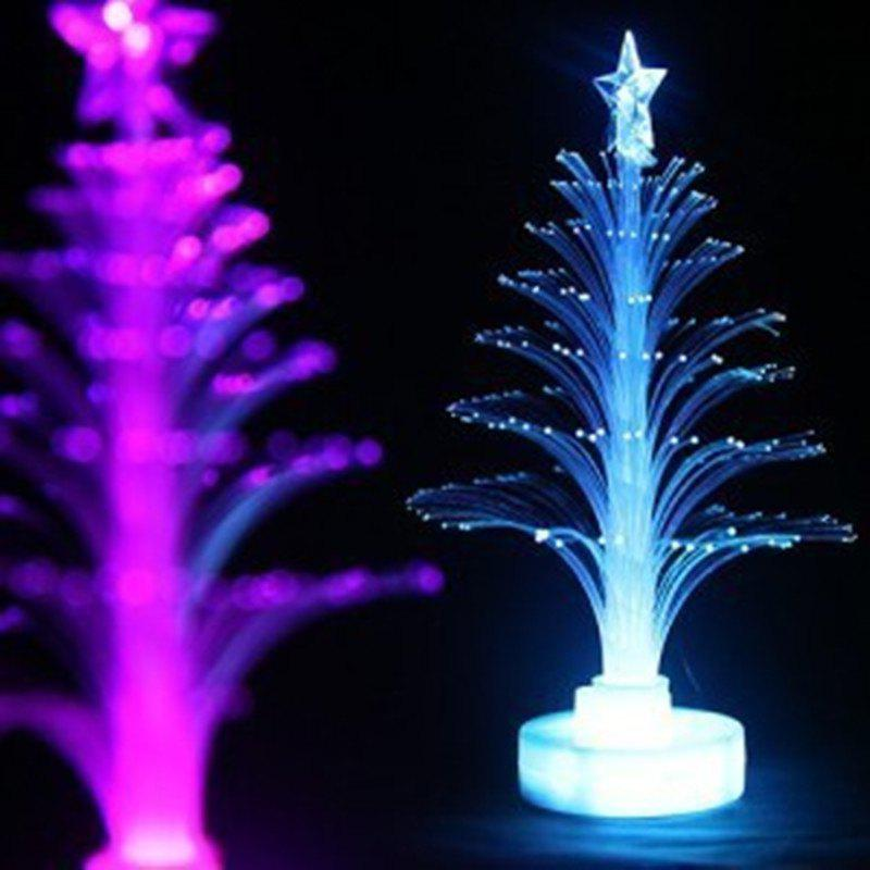 Jueja Novelty Glowing Fiber Optic Christmas Tree Night Lamp Led Bottom Sticker Night Light for Children Romantic Home DecorativeHOME<br><br>Color: RGB COLOR;