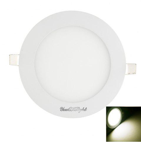 Youoklight 1PCS 12W Ac85 - 265V 60 - Feu blanc Smd / Lumière blanche chaude Luminaire rond Led Blanc Froid