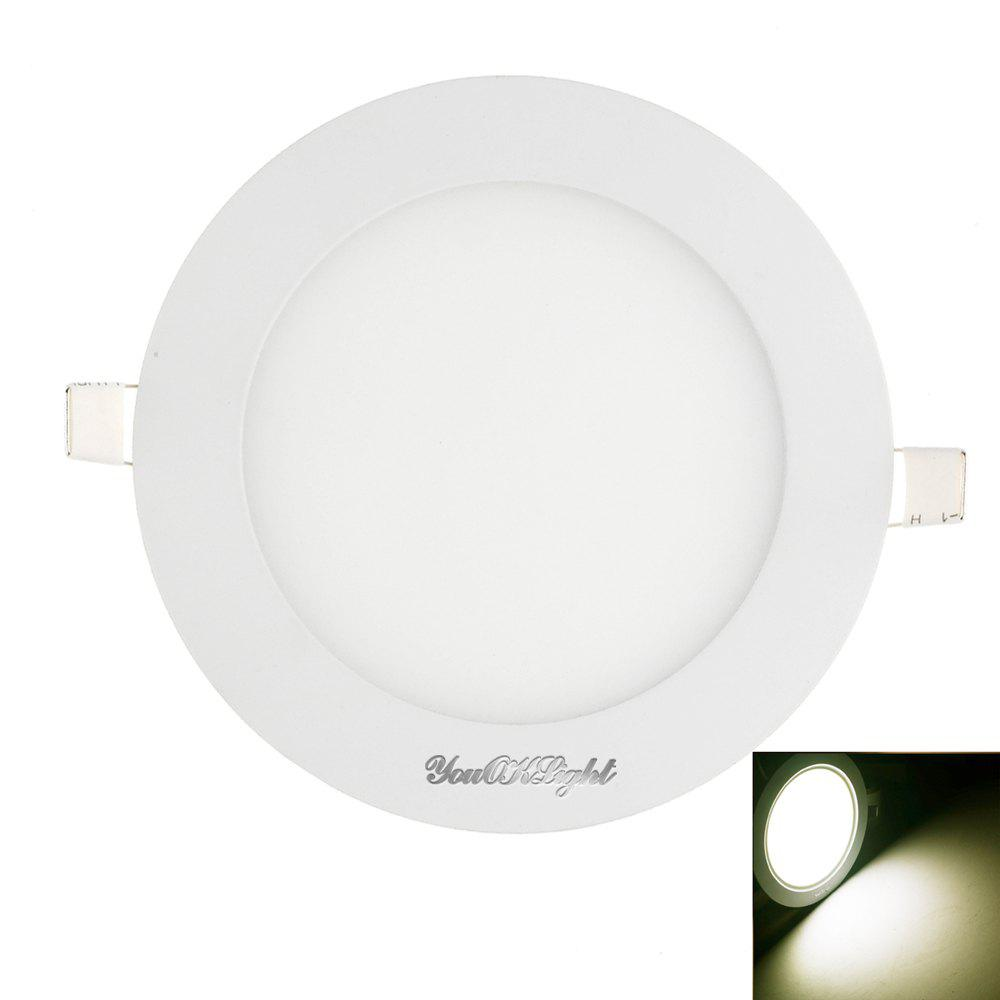 Youoklight 1PCS 12W Ac85 - 265V 60 - Smd Cold White / Warm White Light Led Round Panel LightHOME<br><br>Color: COOL WHITE LIGHT;
