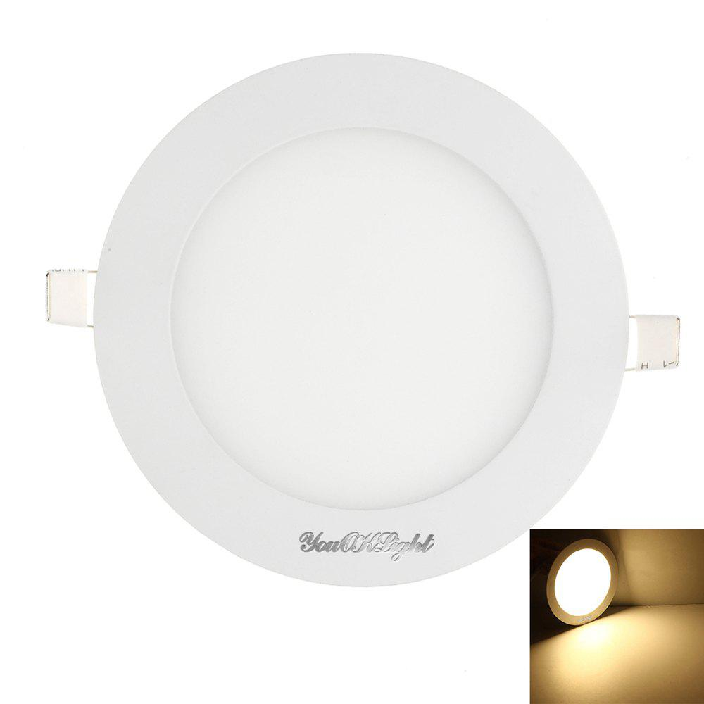 Youoklight 1PCS 12W Ac85 - 265V 60 - Smd Cold White / Warm White Light Led Round Panel LightHOME<br><br>Color: WARM WHITE LIGHT;