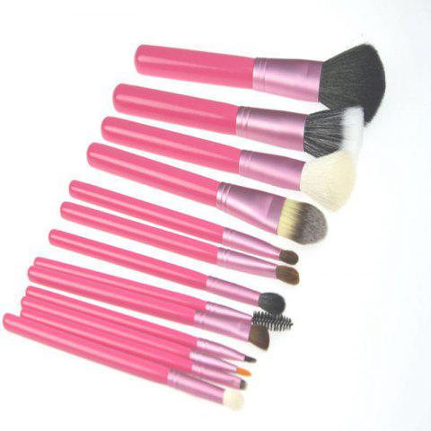 Shop Todo 12X professional Makeup Brush with Cup Holder Case ROSE RED
