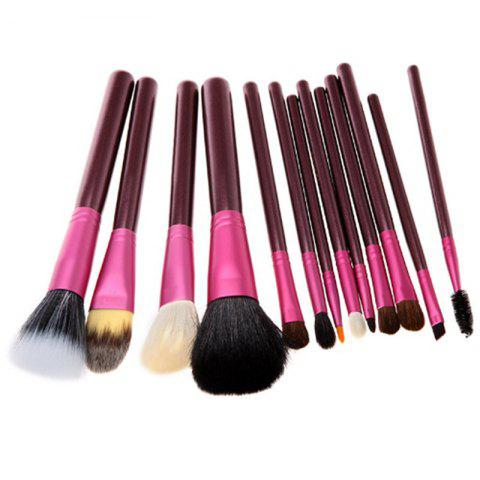 Best Todo 12X professional Makeup Brush with Cup Holder Case - PURPLE RED  Mobile
