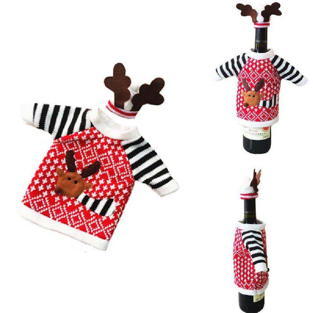 Yeduo Christmas Deer Elk Style Red Wine Champagne Bottle Covers BagHOME<br><br>Color: COLORMIX;