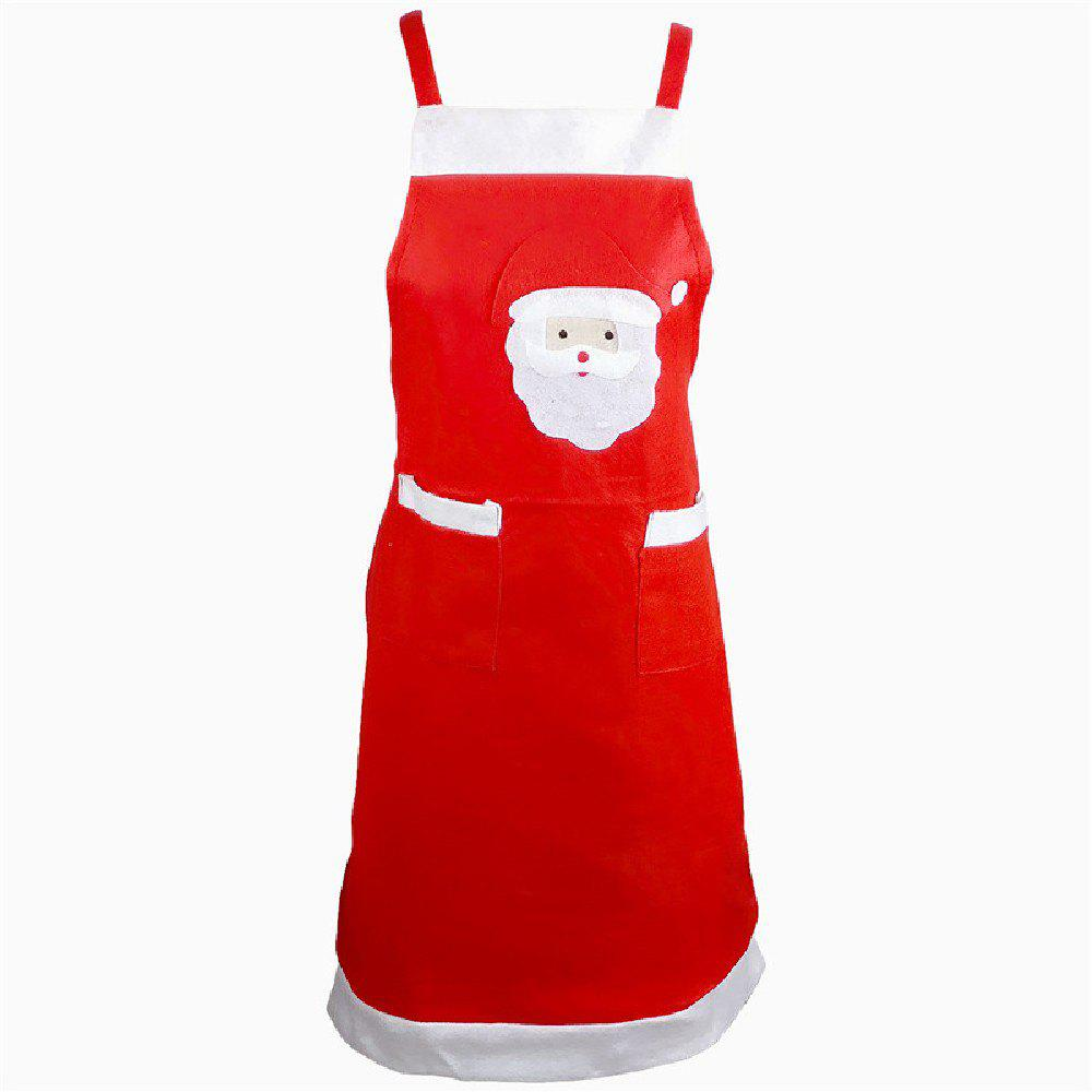 Yeduo Santa Claus Apron Christmas OrnamentHOME<br><br>Color: COLORMIX; Material: Nonwoven; For: All; Usage: Christmas; Package Quantity: 1 x Apron;
