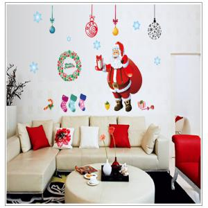 ... Xmas Window Santa Claus Merry Christmas Tree Wall Stickers ... Part 51