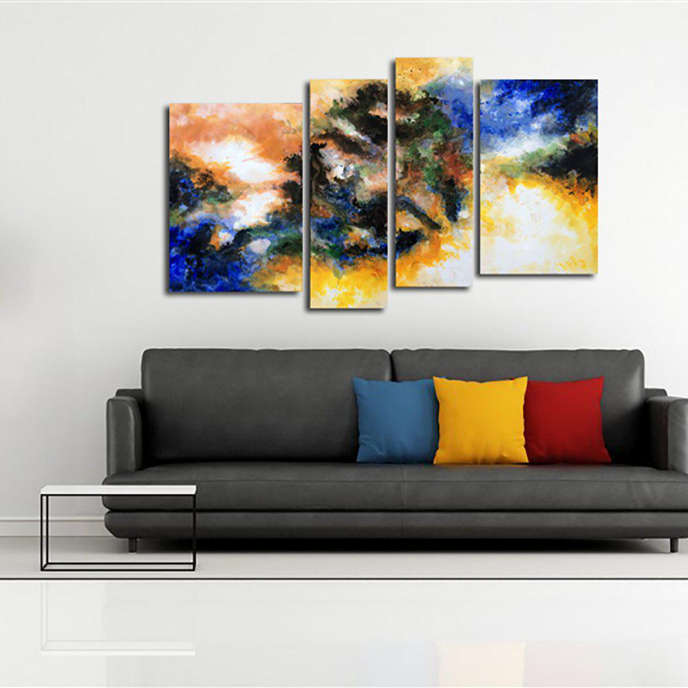 Outfit Yhhp Hand Painted Oil Painting Abstract 4 Piece/Set Wall Art with Stretched Framed Ready To Hang