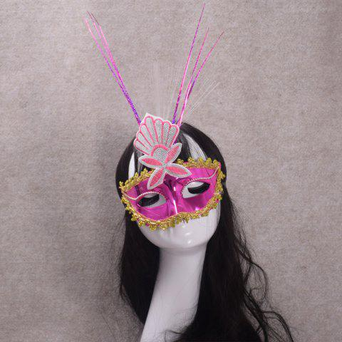 Affordable MYCH Wl156 LED Glow Lace Mask PINK