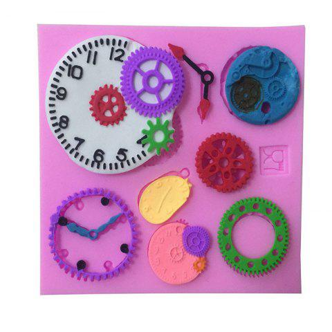 Chic Aya Clock Watch Gear Cake Molds for Baking PINK
