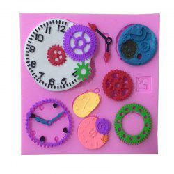 Aya Clock Watch Gear Cake Molds for Baking - PINK