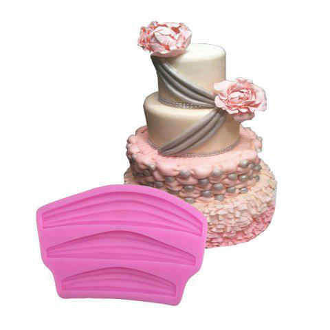 Chic Aya Ribbon Lace Cake Molds for Baking PINK