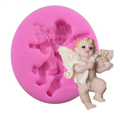 Sale Aya Violin Angel Cake Molds for Baking - PINK  Mobile