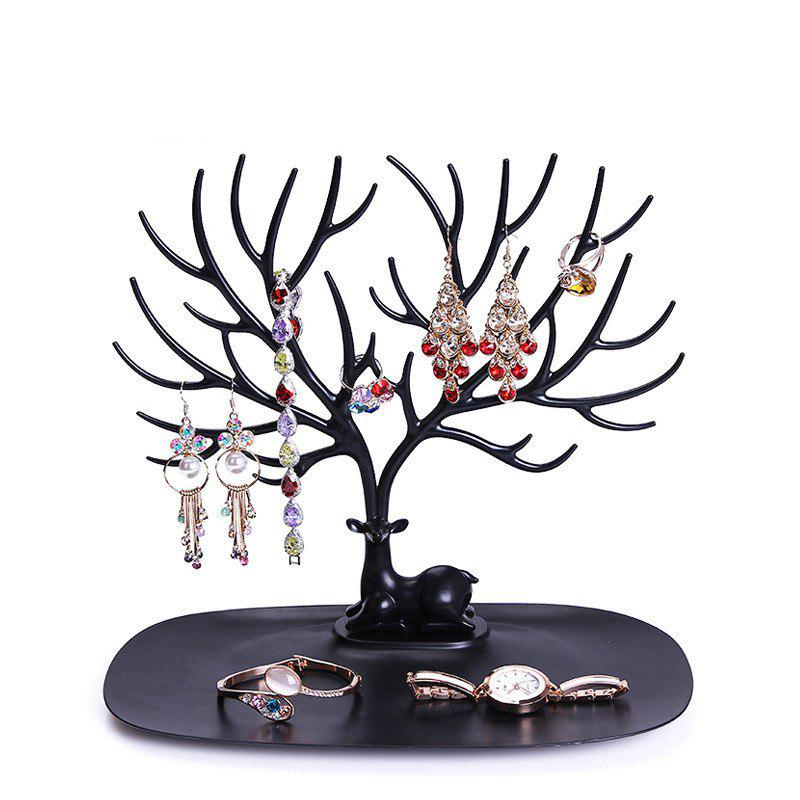 Jewelry Creative Removable Earrings Necklace Jewellery Display RackHOME<br><br>Color: BLACK;