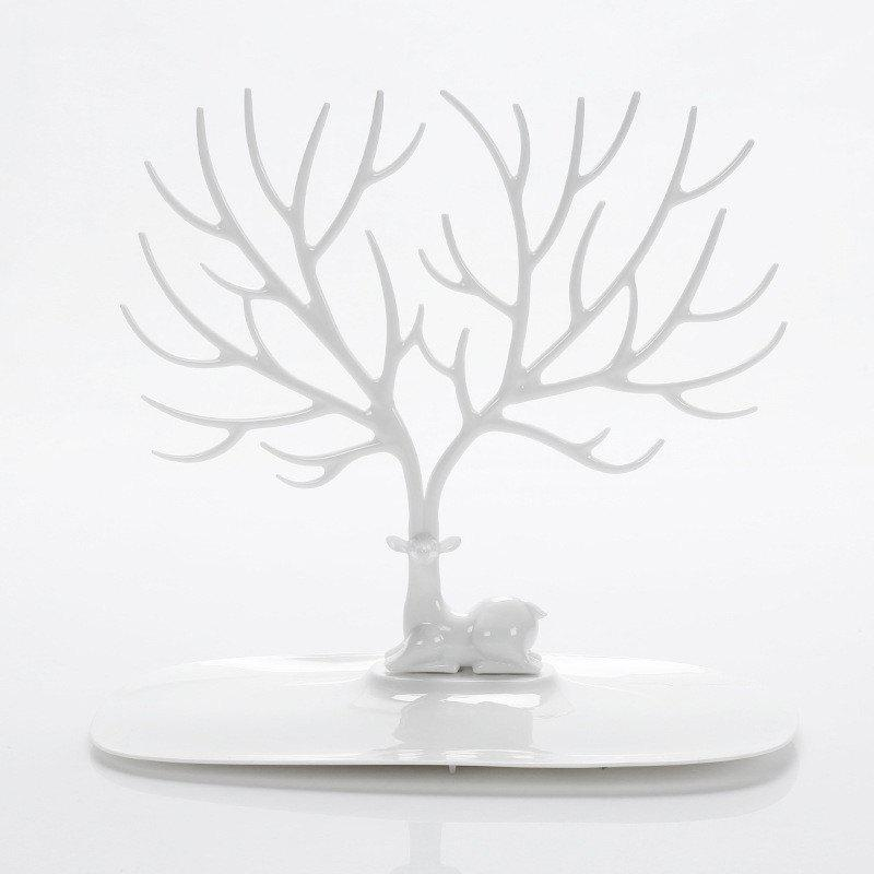 Jewelry Creative Removable Earrings Necklace Jewellery Display RackHOME<br><br>Color: WHITE;