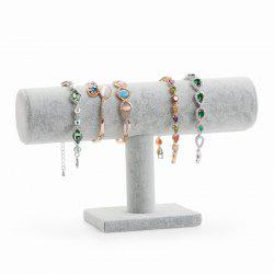 Jewelry High Quality Grey Plush Single-layer Bracelet Display Rack -