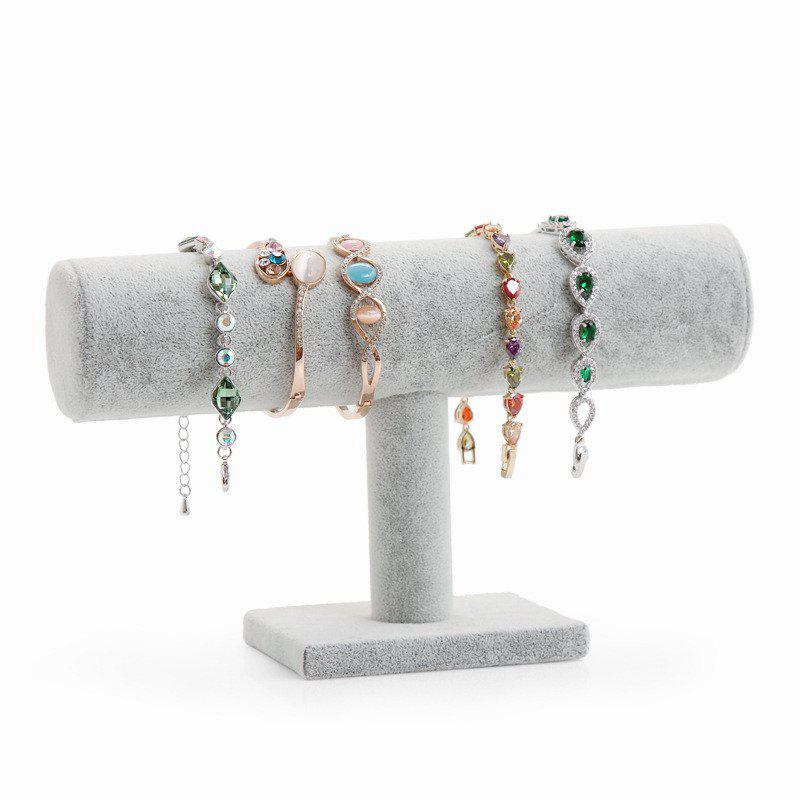 Latest Jewelry High Quality Grey Plush Single-layer Bracelet Display Rack