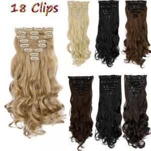 TODO 24inch Wig Curly Single Style 8-piece 18-clip Hair Extensions - BLONDE MIXED 613/27# 24INCH