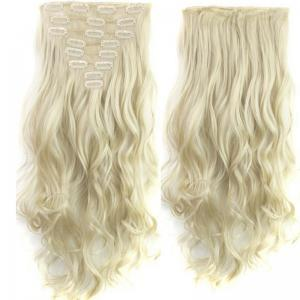 TODO 24inch Wig Curly Single Style 8-piece 18-clip Hair Extensions - BLONDE #613 24INCH
